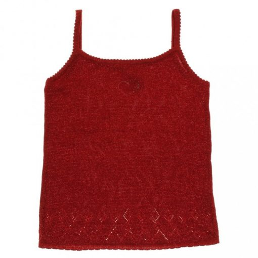CQ fémszálas piros trikó