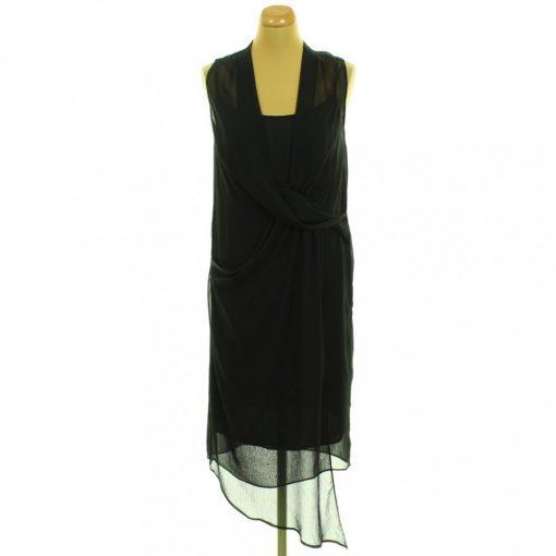 River Island fekete muszlin ruha